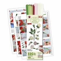 325 Quilling Papierstreifen Weiße Rosen-Set 3 mm