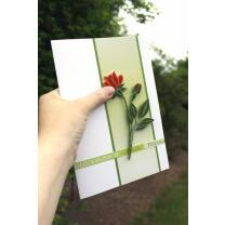 325 Quilling Papierstreifen Orangene Rosen-Set 3 mm