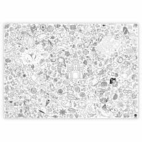 Meerjungfrau - Ausmal-Tischdecke aus Papier 84,1 x 118,9 cm