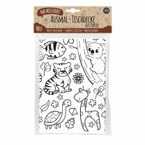 Ausmal-Tischdecke Zoo Natur aus Papier 84,1 x 118,9 cm