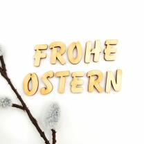 Holzbuchstabe - F Blockschrift in verschiedenen...