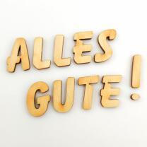 Holzbuchstabe - G Blockschrift in verschiedenen...