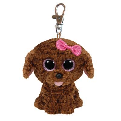 Ty Beanie Boos Glubschi Schlüsselanhänger Hund - Maddie  8,5 cm