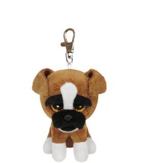 Ty Beanie Boos Glubschi Schlüsselanhänger Hund Boxer - Brutus  8,5 cm