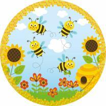 Pappteller Freche Bienen, 8 Stück