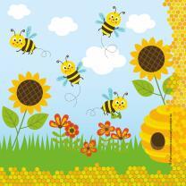 Servietten Freche Bienen, 20 Stück