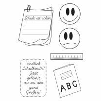 Efco (177) clear stamps Stempel Set - Einschulung 4