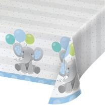 Tischdecke  Bezaubernder Elefant blau - Papier 137 x 259 cm
