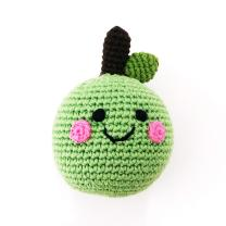 Freundliches Obst Apfel grün Rassel - gehäkelt...