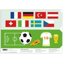 Bastelbogen Prickel-Windlchter Fußball