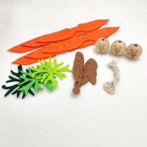 Filzbastelset Karotten-Häschen 3er Set