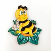 """Holzfigur - """"Biene auf Blüte"""" in..."""