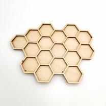 Holzfigur - Bienenwabe in verschiedenen Größen