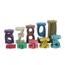 RE-Wood® Stapelzahlen in Montessori Farben - 100er...
