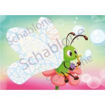 Basteln nach Zahlen - Motiv Schmetterling Seifenblasen -...