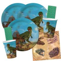 68-teiliges Party-Set Dinosaurier - Teller Becher...