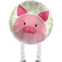 Folienballon Ballonwalker®  Glücksschwein  43 cm