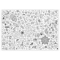 Ausmal-Tischdecke Sommer aus Papier 84,1 x 118,9 cm