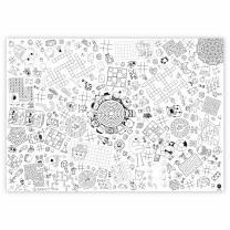 Ausmal-Tischdecke Rätsel und Spiele aus Papier 84,1...