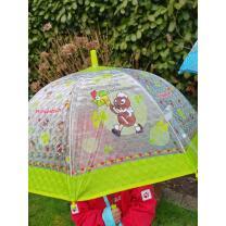 Pittiplatsch  - Regenschirm grün