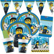 53-teiliges Party-Set Lego City - Teller Becher...