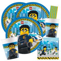 59-teiliges Party-Set Lego City - Teller Becher...