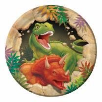 Dinosaurier - Dino Alarm  -  Pappteller klein , 8...
