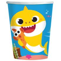 Baby Shark -  8 Pappbecher 23 cm