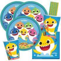 40-teiliges Party-Set Hai Baby Shark - Teller Becher...