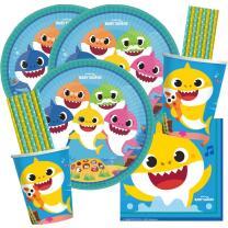 64-teiliges Party-Set Hai Baby Shark - Teller Becher...