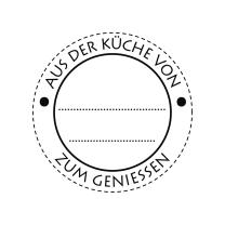 Butterer Holzstempel rund 3 cm - Aus der Küche von ... zum Geniessen (852)