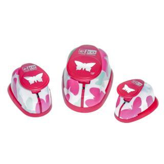 Design-Stanzer - Motivlocher - Set Schmetterlinge 3 Stück