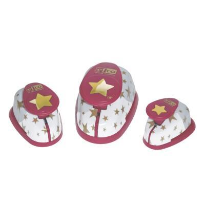 Design-Stanzer - Motivlocher - Set Sterne 3 Stück
