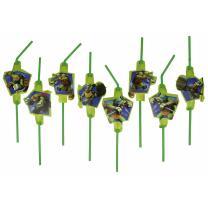 Ninja Turtles TMNT Trinkhalme, 8 Stück