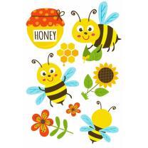 Freche Bienen Tattoos, 1 Bogen