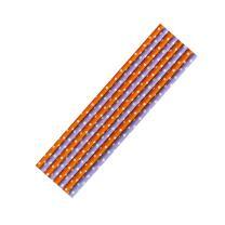 8 Papiertrinkhalme orange-weiß und lila-weiß...