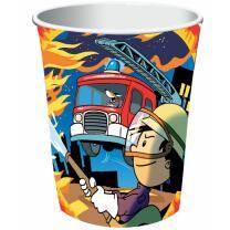 Feuerwehr - 8 Pappbecher Feuerwehrmann Flo 0,25 l