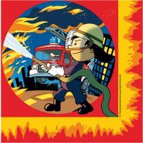 Feuerwehr - 20 Servietten  Feuerwehrmann Flo