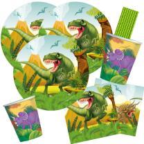 44-teiliges Party-Set Dinosaurier - Dino - Teller Becher...
