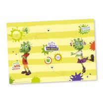 77-teiliges Party-Set - Die Olchis -Teller Becher Servietten Platzsets Wimpelkette Einladungen Luftballons Partyboxen Trinkhalme  für  8  Kinder