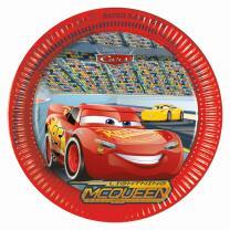 Disney PIXAR Cars 3 - Pappteller, 8 Stück
