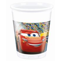 Disney PIXAR Cars 3 - 8 Becher Plastik 0,2 l
