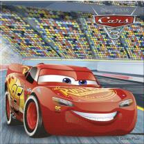 Disney PIXAR Cars 3 - Servietten, 20 Stück,  33 x 33 cm