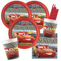 44-teiliges Party-Set-  Cars 3 Teller Pappbecher...