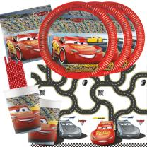 45-teiliges Party-Set-  Cars 3 Teller Pappbecher...