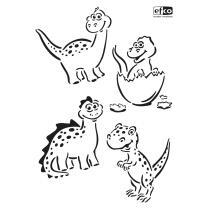Schablone / Stencil DIN A4 - Dinos