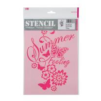 Schablone / Stencil DIN A4 - Summer Feeling