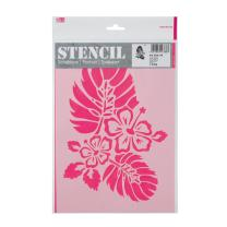 Schablone / Stencil DIN A4 - Hibiskus