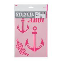 Schablone / Stencil DIN A4 - Ahoi