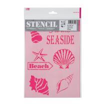 Schablone / Stencil DIN A4 - At the seaside